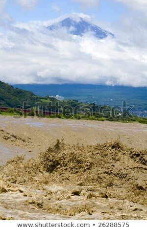 Mount Fuji with Muddy River Stock photo © craig