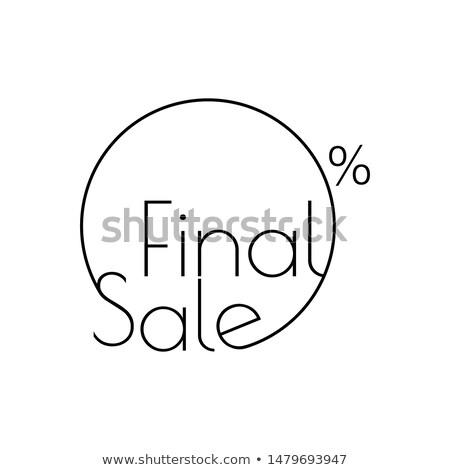 販売 ファイナル リニア ステッカー 孤立した ストックフォト © kyryloff