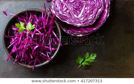 vermelho · repolho · isolado · branco · vegetal - foto stock © grafvision