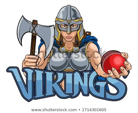 Viking Trojan Celtic Knight Cricket Warrior Woman Stock photo © Krisdog