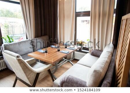 углу кафе удобный кресло вокруг Сток-фото © pressmaster