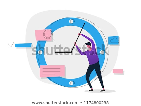 Business held man besparing persoon vector Stockfoto © robuart