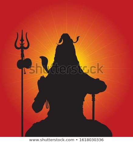 black silhouette of Shiva  stock photo © mayboro