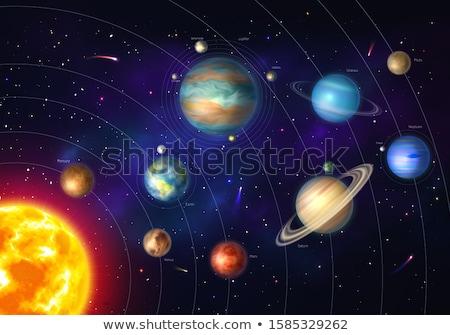 pianeta · sistema · solare · sole · luna · spazio · silhouette - foto d'archivio © pikepicture