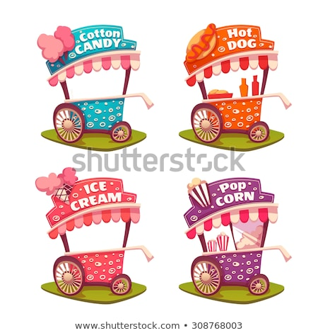 ice cream and cotton candy store sweets vector stock photo © robuart