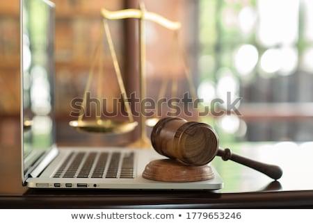ingesteld · boeken · recht · gerechtelijk · hamer · boek - stockfoto © -talex-