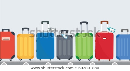 set of different flat colored belts vector illustration stock photo © kup1984