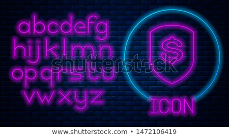 Banka güvenli neon iş tanıtım para Stok fotoğraf © Anna_leni