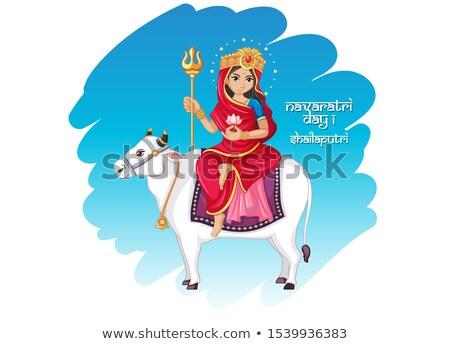 Poster ontwerp godin koe illustratie achtergrond Stockfoto © bluering