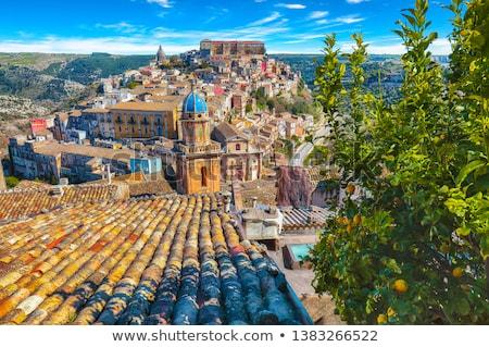 Восход старые барокко города Сицилия Италия Сток-фото © elxeneize