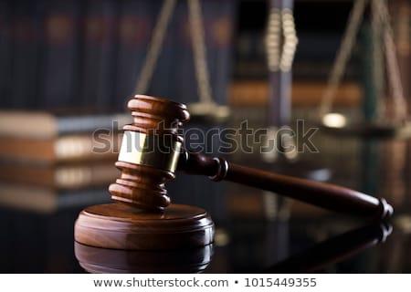Tribunal para texto pizarra cuaderno plumas Foto stock © Mazirama