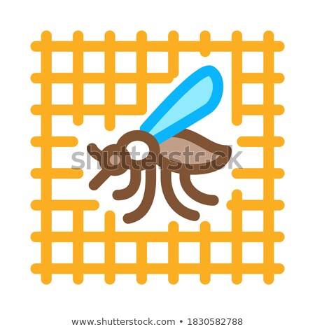 Zanzara griglia icona vettore contorno illustrazione Foto d'archivio © pikepicture