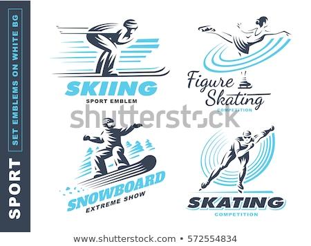 Snowboard extrém tél sportok hobbi férfi Stock fotó © robuart