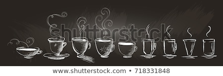 Steaming hot drink with doodles Stock photo © ra2studio
