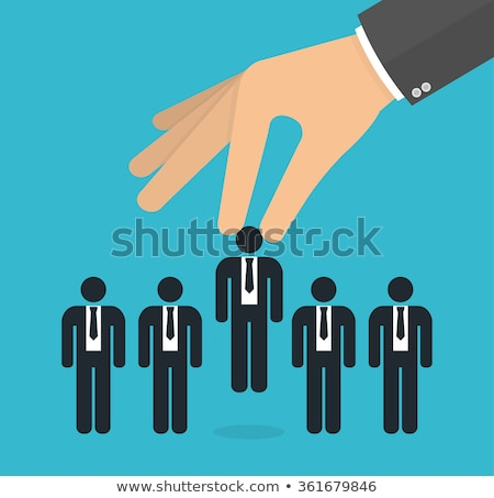 Hand Picking Ideal Job Candidate Stock photo © AndreyPopov