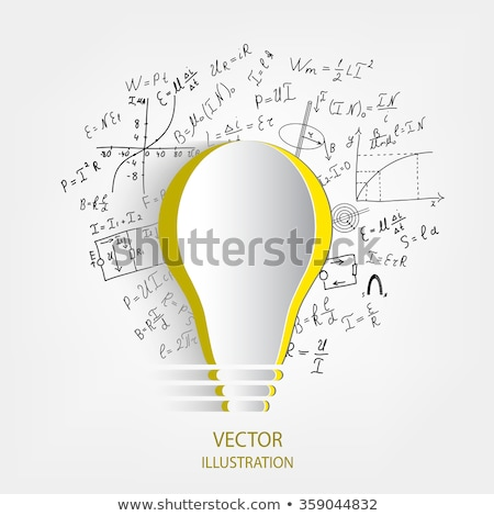 Sucesso fórmula jovem empresário pensando homem Foto stock © silent47
