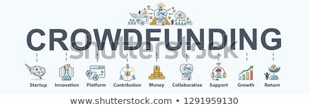 Crowdfunding Business Minimal Infographic Banner Vector Stock photo © pikepicture