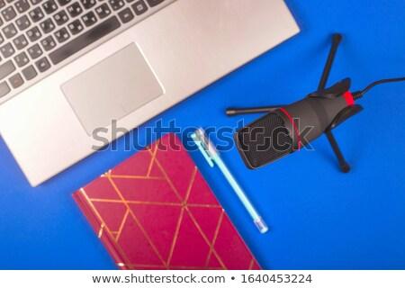 Audio blogger laptop microfoon notebook technologie Stockfoto © dolgachov