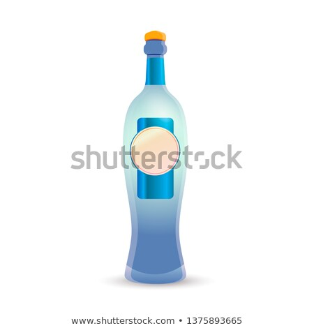 Bright glossy luxury gin bottle on white Stock photo © evgeny89