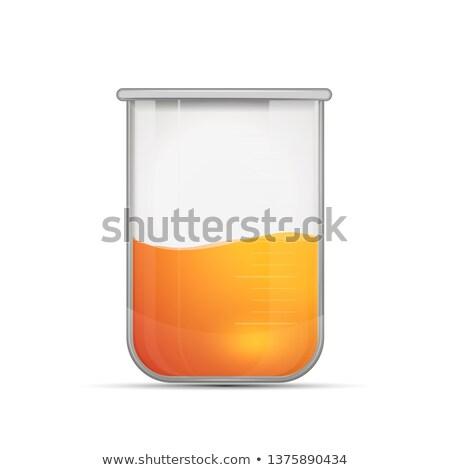 реалистичный химического колба ярко оранжевый Сток-фото © evgeny89