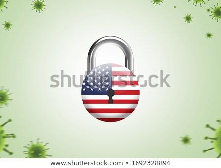 America in Lockdown Isolation Icon Stock photo © patrimonio