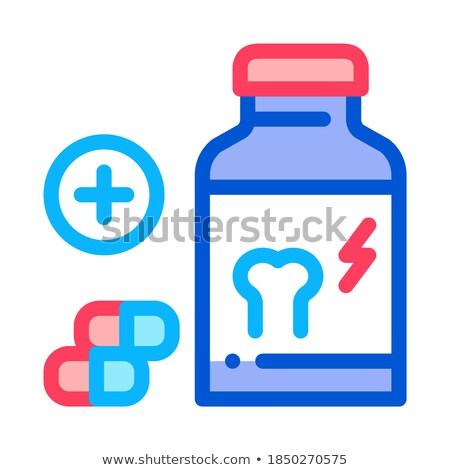 Vitamina ossa icona vettore contorno illustrazione Foto d'archivio © pikepicture