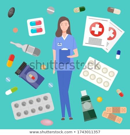 Behandeling geneeskunde arts vrouw medische Stockfoto © robuart