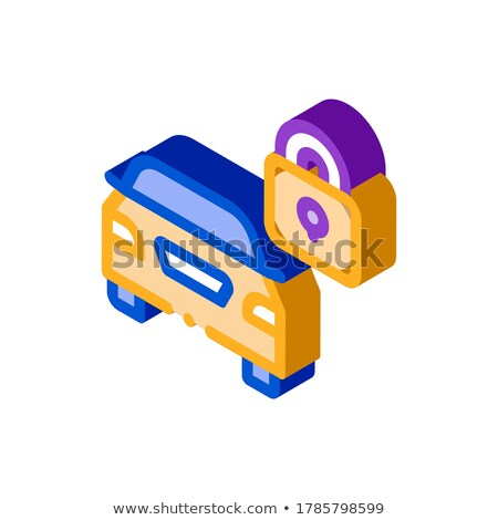 Machine Safe Closed isometric icon vector illustration Stock photo © pikepicture