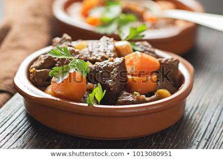 Hortalizas alimentos placa carne cocinar Foto stock © photosoup