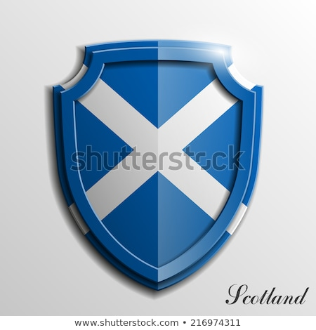 Shield, swords, and a banner Stock photo © damonshuck