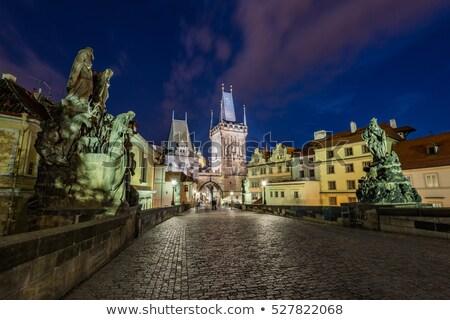 panoramik · görmek · kule · Prag · şehir · nehir - stok fotoğraf © capturelight