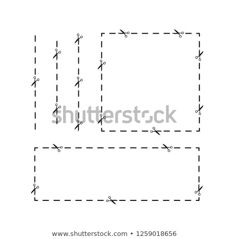 Forbici percorso nero su misura coppia isolato Foto d'archivio © pixelman