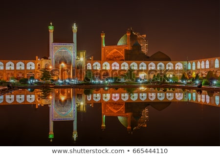 mosque at night esfahan iran stock photo © travelphotography