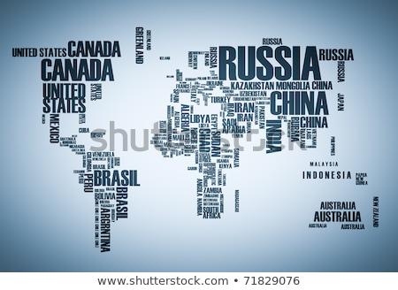 Stockfoto: Globalisering · woorden · internet · wereldbol · wolk
