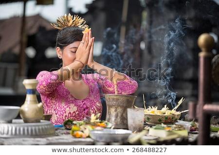 estatua · templo · bali · Indonesia - foto stock © travelphotography