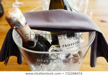 бутылку вино стекла темно белый бутылку вина Сток-фото © pterwort