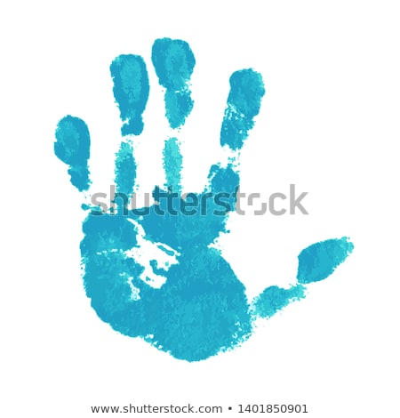 main · imprimer · hérisser · bleu · blanche · résumé - photo stock © imaster