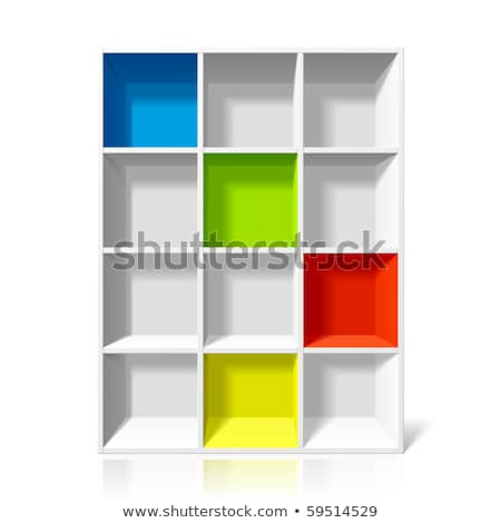 vector colorful empty bookshelf Stock photo © freesoulproduction