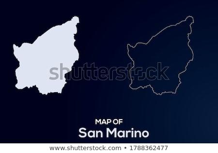 San · Marino · utazás · térkép · lökés · üzlet · terv - stock fotó © speedfighter