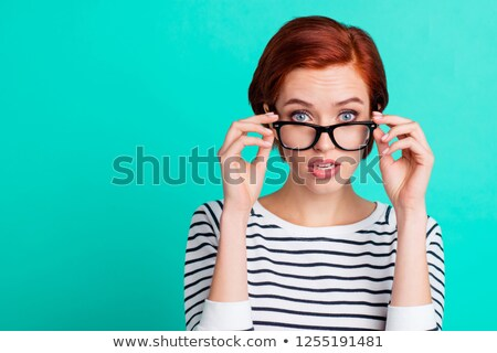 business woman touching her glasses Stock photo © photography33