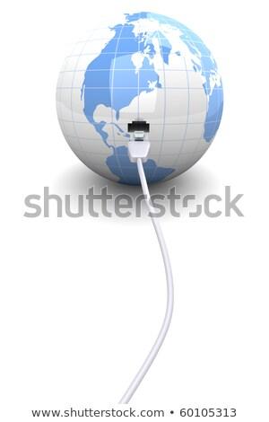 Ethernet мира 3D оказанный иллюстрация сеть Сток-фото © dacasdo
