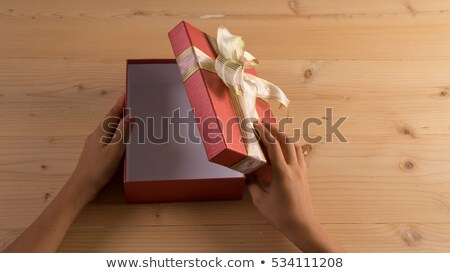 business woman with open empty case Stock photo © varlyte