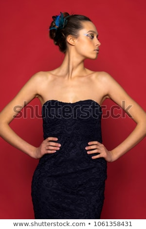 Baroque haute couture woman portrait Stock photo © lunamarina