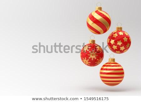 Négy karácsony piros hó terv tél Stock fotó © calvste