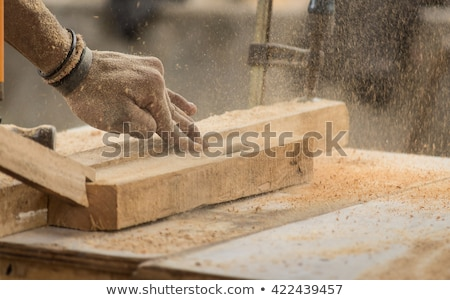 builder with wood and saw stock photo © photography33