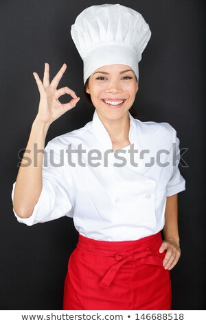 Smiling Chef Giving Perfection Gesture Stock photo © stryjek