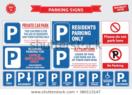 Private parking sign Stock photo © luissantos84