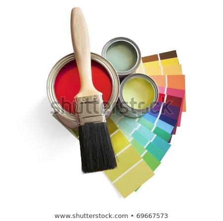 Pintar vermelho interior cores pintor artista Foto stock © photography33