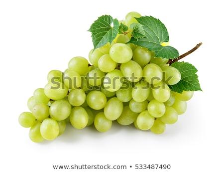 Сток-фото: свежие · белый · виноград · капли · воды · изолированный
