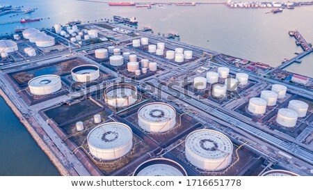 Gas tanks in gas processing plant in Hong Kong Stock photo © kawing921